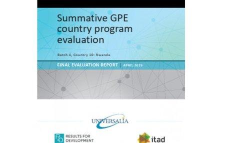 Summative GPE country program evaluation: Rwanda - April 2019