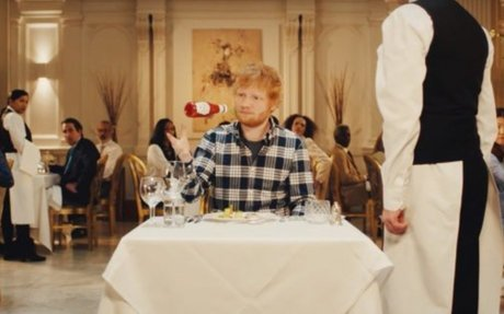 Heinz Ketchup Saves Ed Sheeran From a Fancy Meal in Super Casual New Campaign