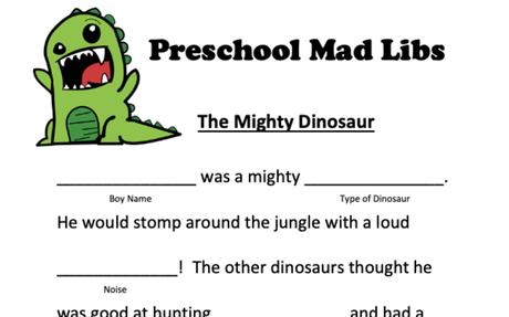 Preschool Mad Libs