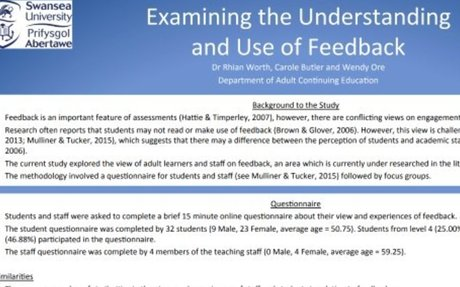 Examining and Understanding the Use of Feedback