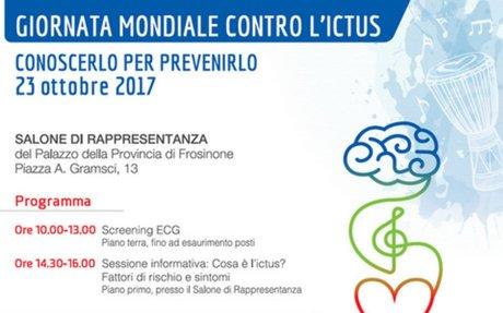 """""""Ictus: conoscerlo per prevenirlo"""", iniziativa di screening gratuiti a Frosinone"""