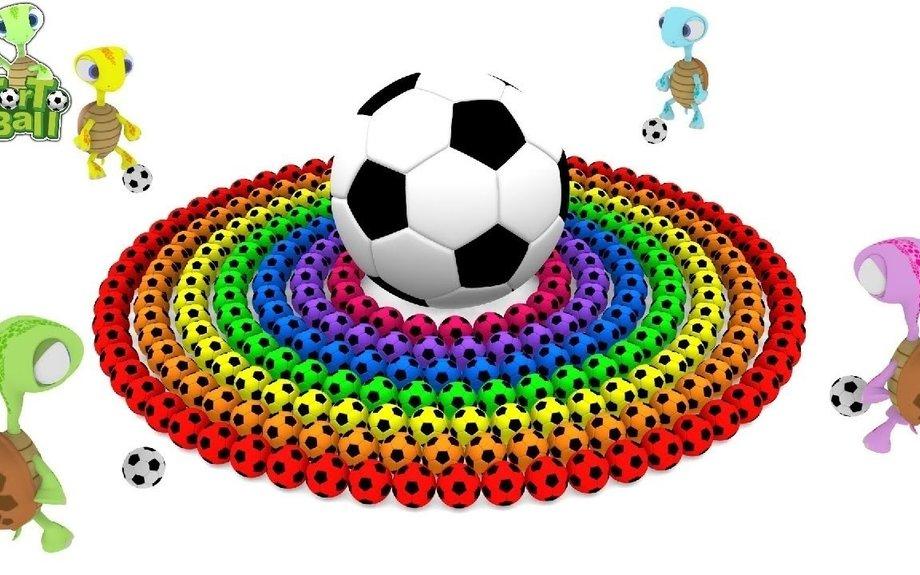LEARN BALLS Turtles Kick Soccer Ball Breaker Colors Football For Children and Kids | Torto