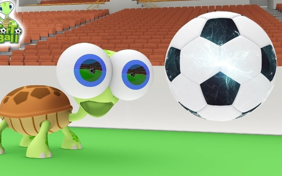 Soccer Balls Makes the Spirit of Turtles Play Football Fun For Children and Kids | Torto B