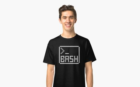 'Bash Shell Pixel Drawing for Command Line Hackers' Classic T-Shirt by ramiro