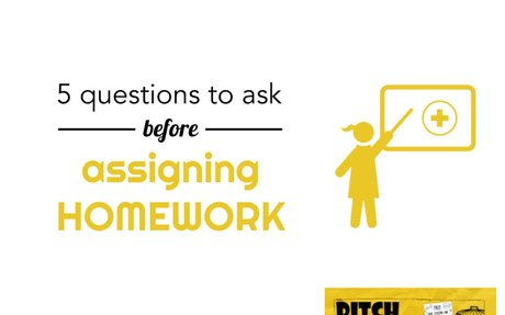 Five questions to ask before assigning homework