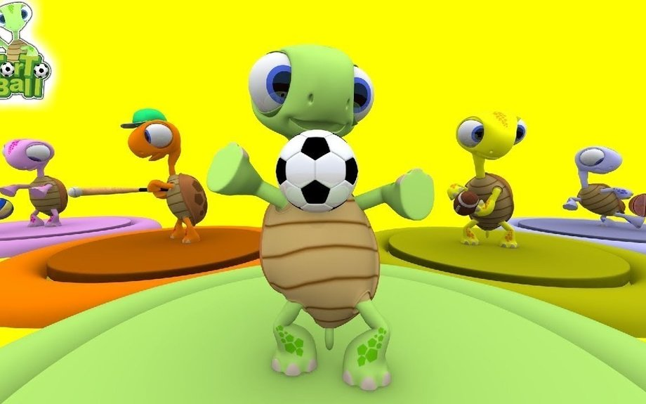 LEARN BALLS Turtle with Sport Ball Fun Playing and Learn for Children and Kids | Torto Bal
