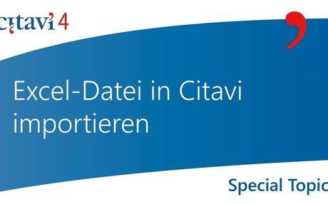Excel-Datei in Citavi importieren