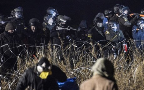 Water Cannons and Tear Gas Used Against Dakota Access Pipeline Protesters