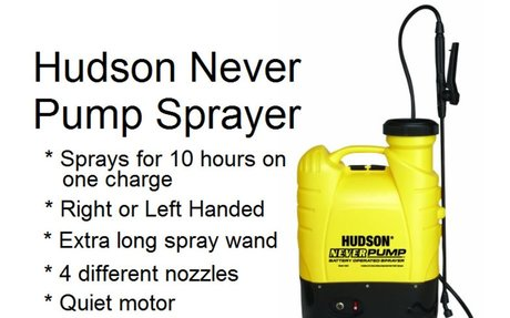 Hudson Battery Powered Backpack Sprayer - 13854 Never Pump Again -