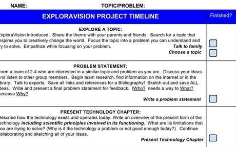 ExploraVision Timeline 17/18