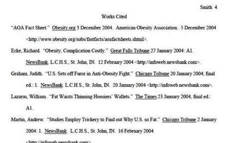 Step 3: Create a Works Cited Page