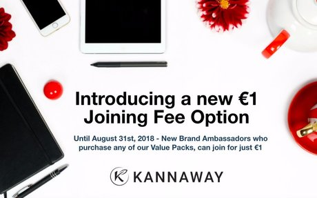 €1  Joining  Fee  for  Kannaway  Extended!