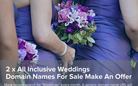 2 x All Inclusive Weddings Domain Names For Sale Make An Offer