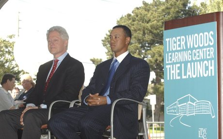 TIGER'S 2006 ROUND WITH BILL CLINTON WAS...