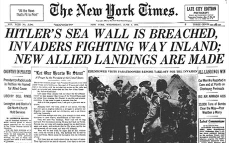 Hitler's Sea Wall Is Breached, Invaders Fighting Way Inland; New Allied Landings Are Made