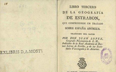 Libro tercero de la Geografía de Estrabon, que comprehende un tratado sobre España antigua