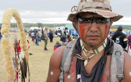 """Native Americans protesting an oil pipeline are a """"morally embarrassing reminder"""" of Ameri"""