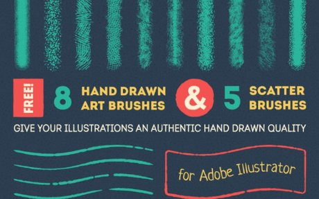 New Freebies: HandDrawn Art Brushes, Bizon Font, and more...