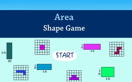 Area Shape Game - Geometry:  Math Games