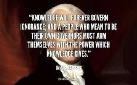 James Madison Knowledge Quote