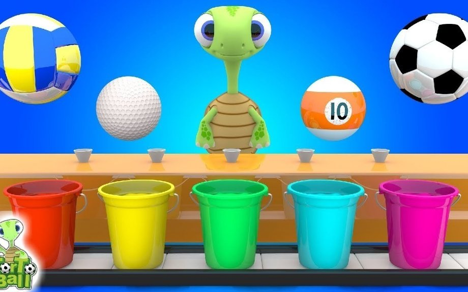 LEARN BALLS and LEARN Color With Soccer Ball Basketball For Children and Kids | Torto Ball
