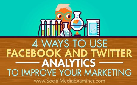 4 Ways to Use Facebook and Twitter Analytics to Improve Your Marketing : Social Media Exam