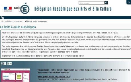 La Boîte à outils numériques — Délégation académique aux Arts et à la Culture