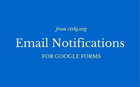 Email Notifications for Google Forms