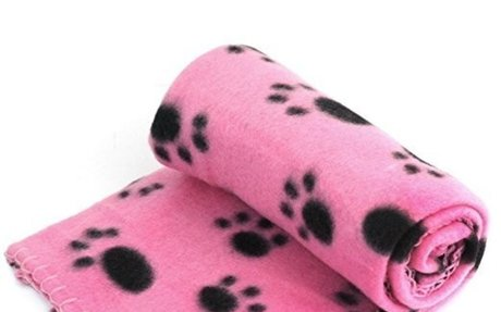Pet Dog Cat Puppy Kitten Soft Blanket Doggy Warm Bed Mat Paw Print