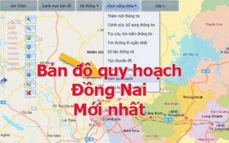 Bản đồ quy hoạch tỉnh Đồng Nai mới nhất