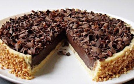 Csokoládés panna cotta torta