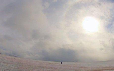'Watermelon' snow is helping melt glaciers