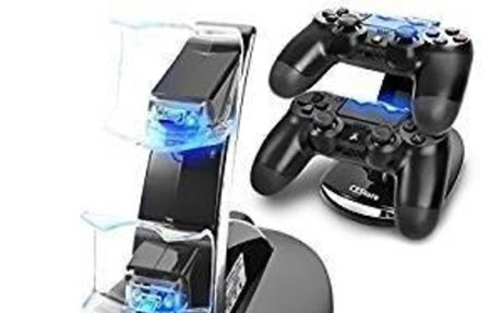 Amazon.com: CEStore Dual USB Charging Charger Docking Station Stand for Playstation 4 PS4