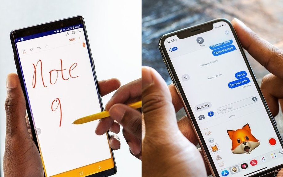 How Samsung's Galaxy Note 9 stacks up against the iPhone X