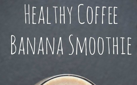 Healthy Coffee Banana Smoothie - Life is Poppin'