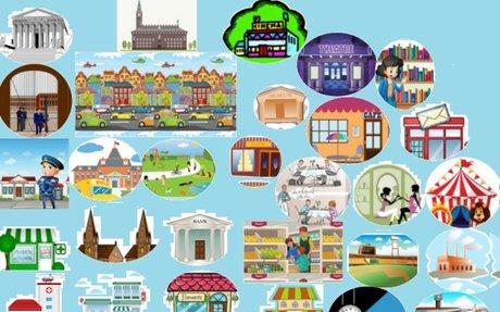 Les lieux de la ville. Vocabulaire: activités interactives