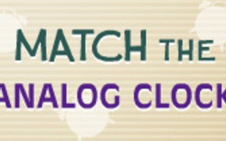 Match the Analog Clock - Telling Time Game