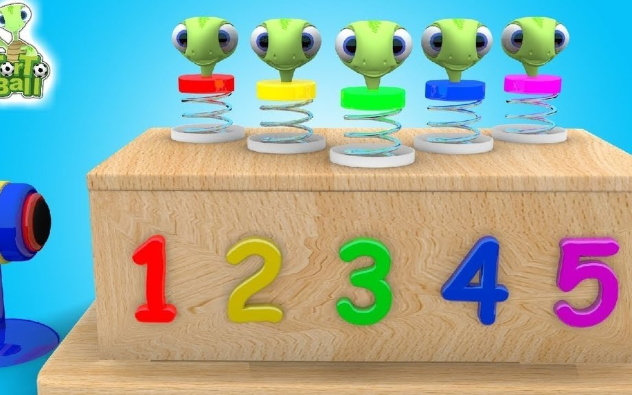 Learn to Count with Turtles Head Spiral! | Numbers for Children, Toddlers and Babies | Tor