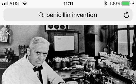 1.) Development of Penicillin