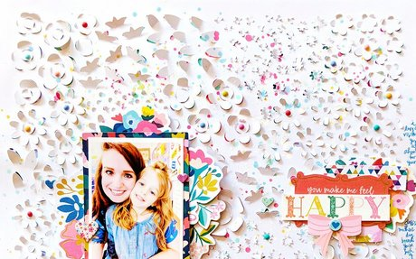 This makes me happy. A 15-minute scrapbook idea? Uh. Yes, please!