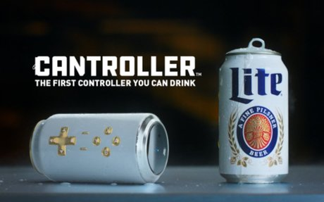 Miller Lite created a beer can that doubles as a video game controller, the 'Cantroller'