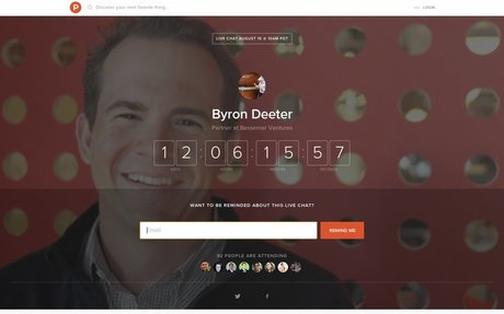 Byron Deeter LIVE Chat on Product Hunt