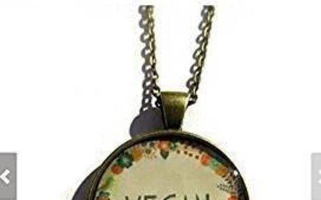 Amazon.com: VEGAN necklace - vegan jewelry - Nature I heart - vegan gift - vegetarian, eat