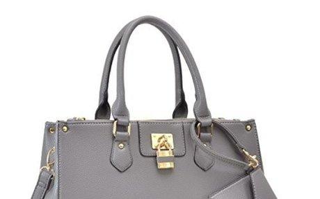 Dasein Women's Designer Leather Satchel Top Handle Shoulder Bag Padlock Tote Handbag$42.99