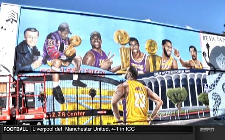 Murals of Lebron in Los Angeles - ESPN Video