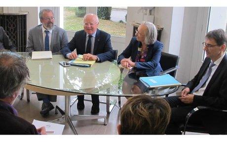 Tribunal administratif de Poitiers : le vice-président du Conseil d'Etat en visite.