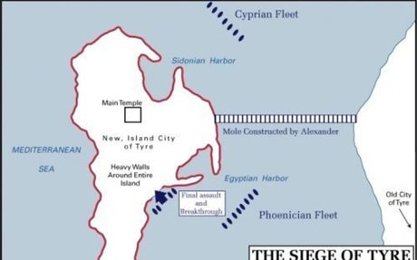 Ancient History Encyclopedia; Alexander's Siege of Tyre, 332 BCE
