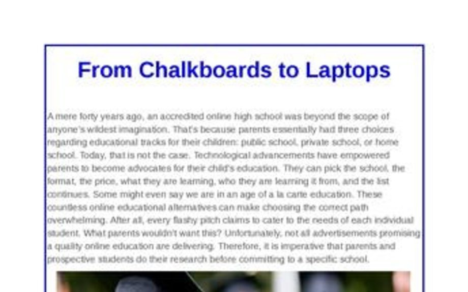 From Chalkboards to Laptops