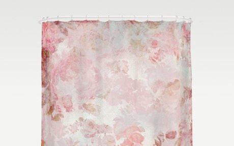 Vintage Floral Rose Roses painterly pattern in pink