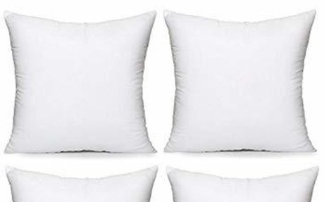 "Amazon.com: Acanva Hypoallergenic Pillow Insert Form Cushion, 18"" L x 18"" W, Pack of 4: Ho"